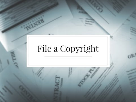 Video Tutorial - How to File a Copyright for Your Novel
