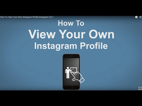How To View Your Own Instagram Profile - Instagram Tip #7