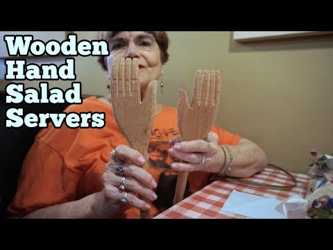 Wooden Hand Salad Servers | Barb Makes Things #73