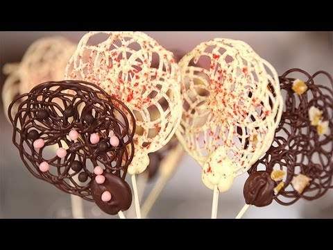 How to Make Chocolate Lace Lollipops | Get the Dish