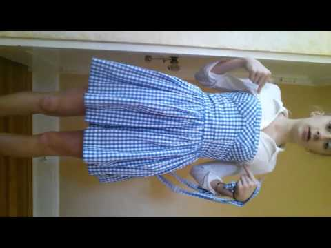 DIY Dorothy halloween costume!!!