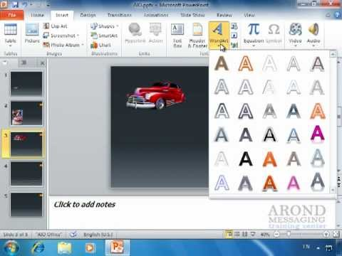 Using PowerPoint 2010 - Add WordArt