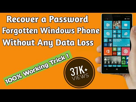 How to recover a forget password Windows Phone , Without data loss and hard reset #HD