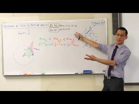 Behaviour of sinx & tanx for small x (2 of 3: Geometric proof)