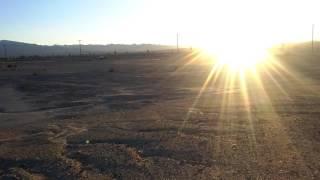 desert rc car playing