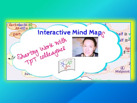TPT product tutorial: Using Mind Maps in Math Classroom (Geometry)