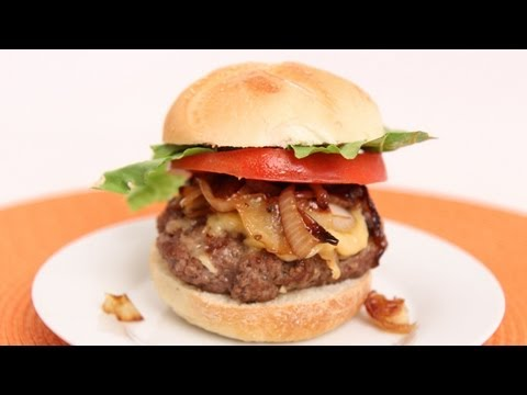 Caramelized Onion Burger Recipe - Laura Vitale - Laura in the Kitchen Episode 632