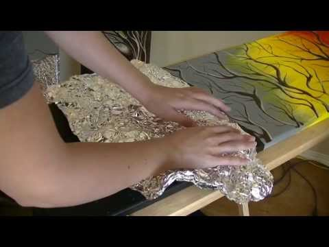★ASMR [HD]★•Painting• Foil Art~ Ear To Ear~Soft Spoken/ Whispered Narration