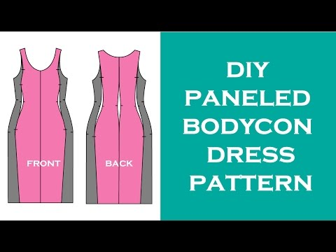 Design A Paneled (Jersey) Dress Pattern