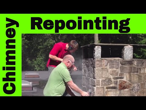 Chimney Re-pointing - How to remove cement grout