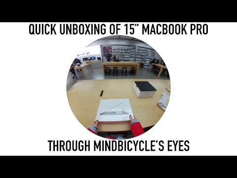 MacBook Pro unboxing through Snapchat Spectacles