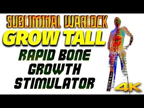 GROW TALL FAST! SUPER RAPID BONE GROWTH STIMULATOR! SUBLIMINAL WARLOCK! 4K