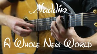 Download Aladdin - A Whole New World - Fingerstyle Guitar Cover Video