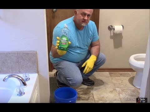 How to unclog a toilet using hot water & dish soap. DIY...save MONEY before calling a plumber!