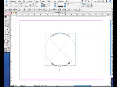 Adobe InDesign CS2 - Type on top and bottom of circle