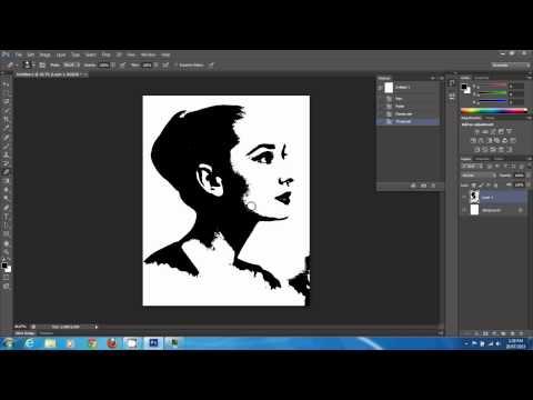 Create stencil from a colour photo