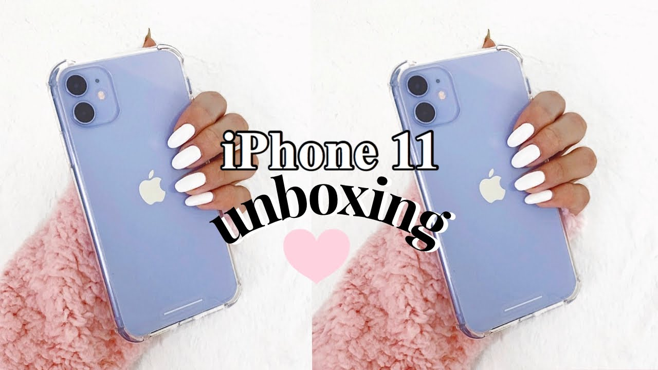 LAVENDER iPhone 11 Unboxing + First Impressions♡ *extra lol*