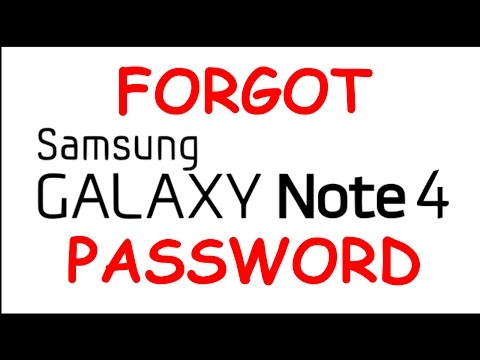 All Galaxy Note 4 Hard Reset Galaxy Note 4 Forgot Password