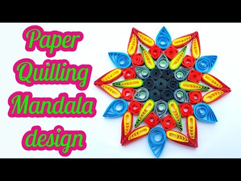 how to make paper Quilling Flowers using a hair comb by art life #art 18