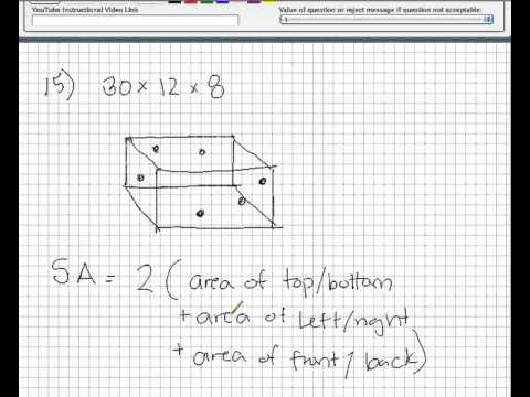 Volume and surface area of a rectangular solid