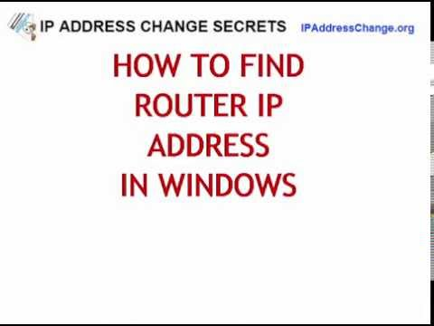 How to Find ROUTERS IP ADDRESS [Windows  | MAC ]