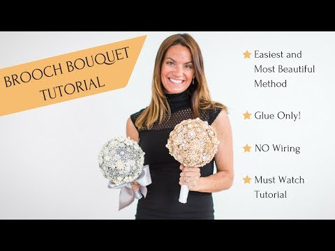 Brooch Bouquet Tutorial | DIY Wedding Brooch Bouquet with Styrofoam Ball Glue Only Method