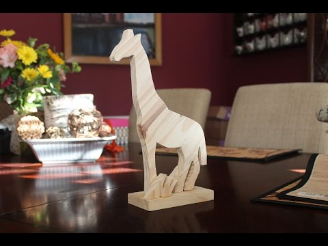 How to make a decorative wooden Giraffe