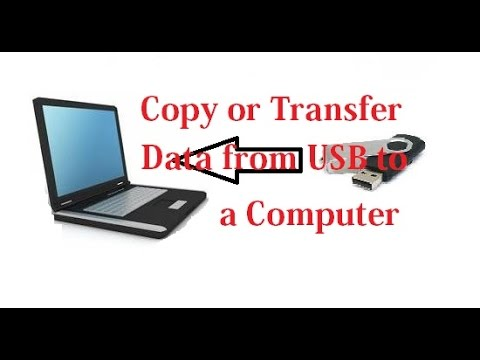 How to Copy or Transfer Data from a USB Flash Drive to a Computer [Urdu/Hindi]