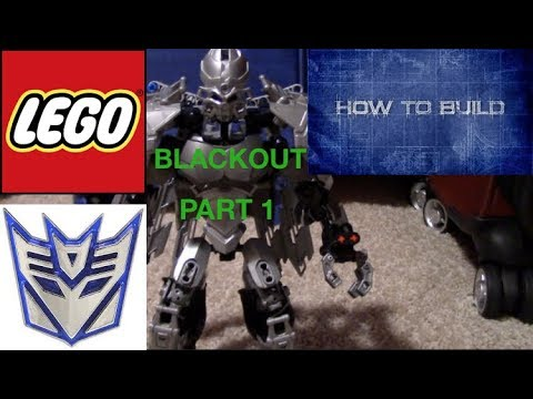 How to build Lego Blackout Part 1 with hero factory
