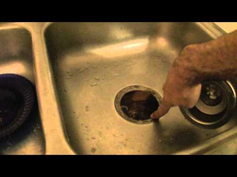 How to replace the kitchen sink drain