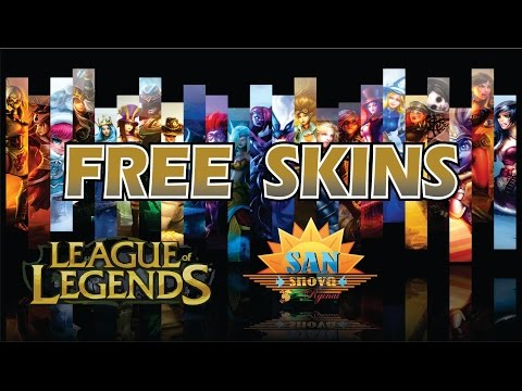 ☮HOW TO GET ℉REE SKINS IN League of Legends®  FOR ALL CHAMPIONS✔