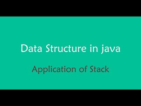 java data structure - Stack Application