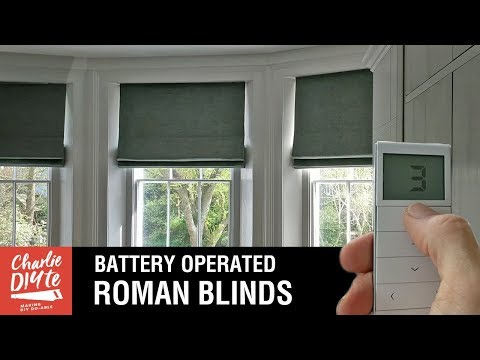 How to Fit Battery Operated Roman Blinds