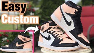 """the latest 45979 59abf Custom Jordan 1 CRIMSON """"TOE"""