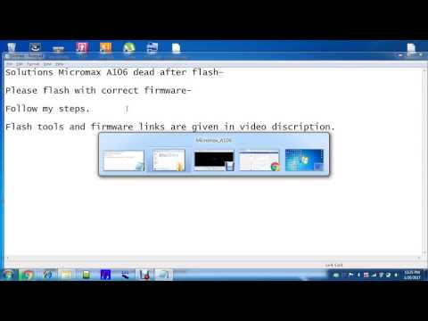 Micromax a106 dead repair (Solved with usb & windows pc)