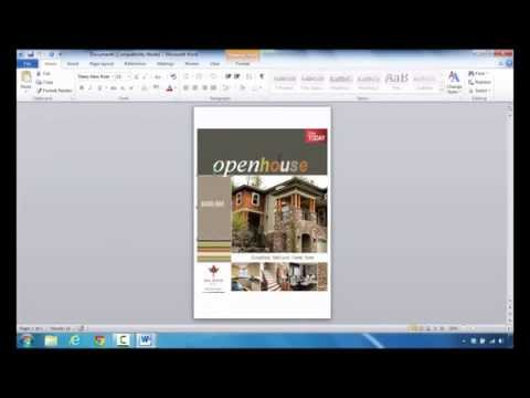 How to Create a Real Estate Flyer in Microsoft Word 2010