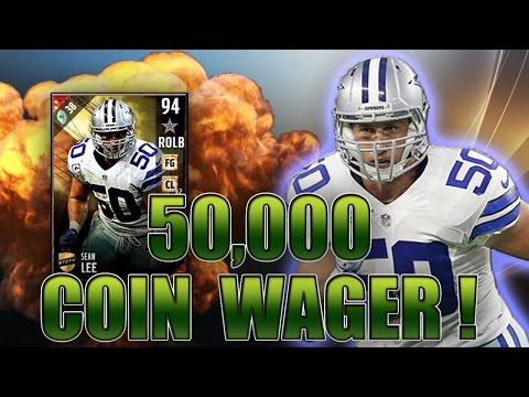 GOT 94 TOTY SEAN LEE! NEW PATCH BROKE THE GAME! (50K WAGER) - MADDEN NFL 17 ULTIMATE TEAM