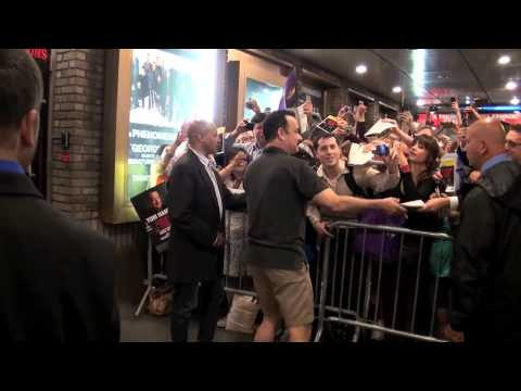 Tom Hanks signing autographs at the stage door after his performance in