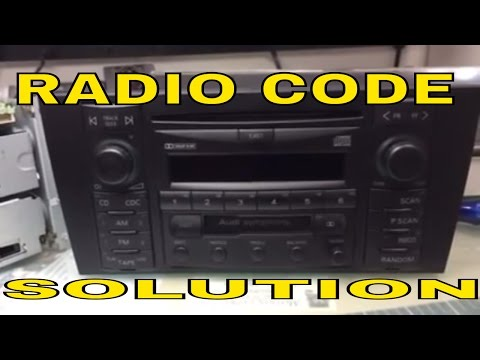 VW AUDI radio code Unlock