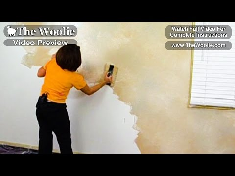 Quick - Color-Meshing Faux Painting Wall Technique by The Woolie (How To Paint Walls) #FauxPainting