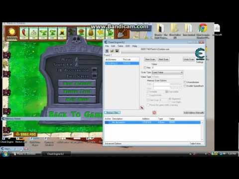 how to hack plants vs zombies cheat engine 6.2