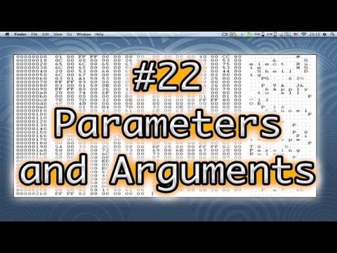 Programming Basics #22 Parameters and Arguments