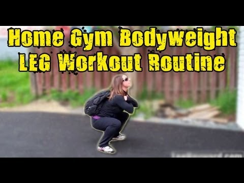 Home Gym LEG Workout Without Weights