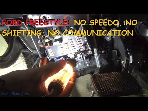 Ford Freestyle: No Speedometer, No Shifting, ABS, SRS, Trac Lights On - No Com U1900