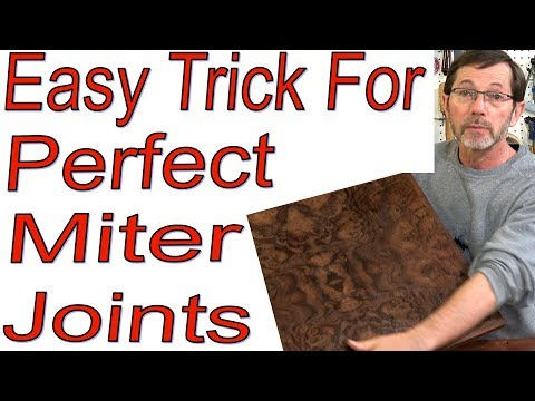 Easy Trick for Perfect Edgeband Miters with ANY Miter Saw