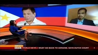Prof. Richard Heydarian BBC interview on Duterte Popularity rating