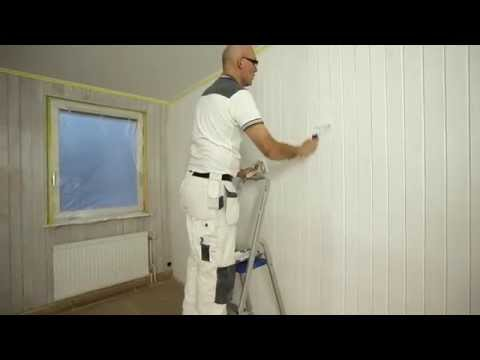 Painting wooden panelling – step by step