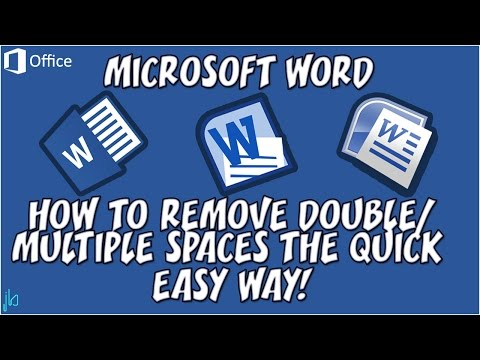 How to Remove Double or Multiple Spaces from Word Documents the Quick Easy Way