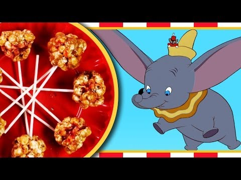 Dumbo's Peanut Butter and Jelly Popcorn Balls Recipe | Inspired by Disney's Dumbo