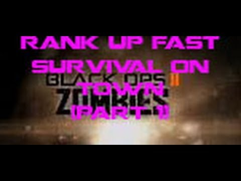 Black Ops 2 Zombies - Best Rank Up Quick Strategy! (Part 1)
